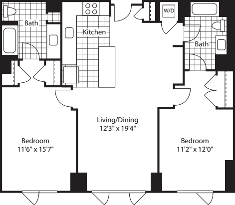 2 Bed (North)- 1073