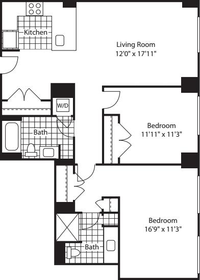2 Bed (North)- 1069
