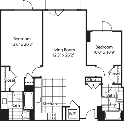 2 Bed (North)- 1239