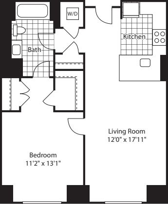 1 Bed (North) - 672
