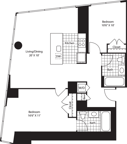 Two Bedroom OpenKit FL 28-46