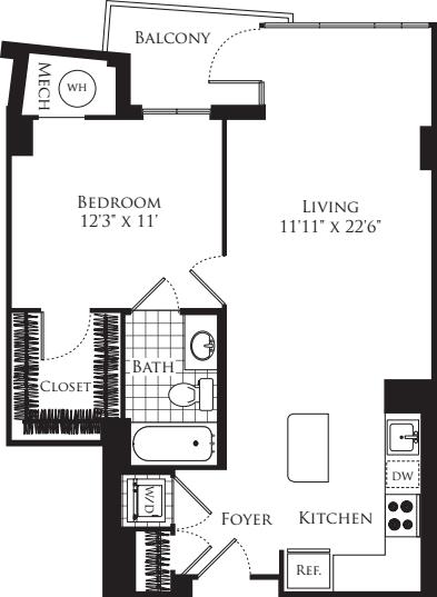 1 Bedroom- 707