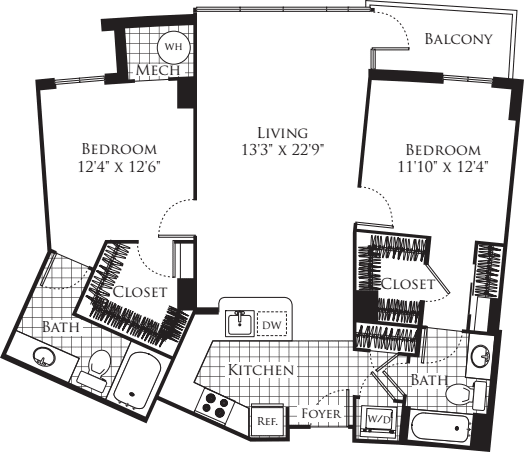 2 Bedroom- 1120