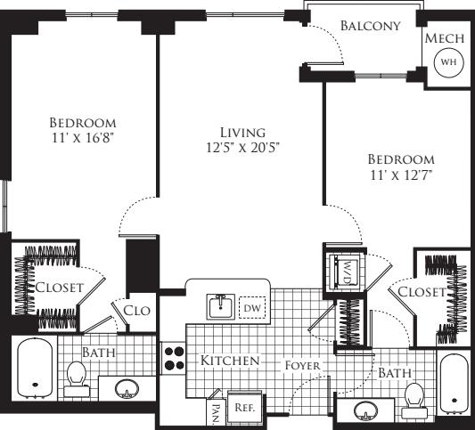 2 Bedroom- 1108