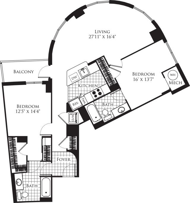 2 Bedroom- 1172