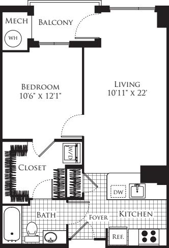 1 Bedroom- 662