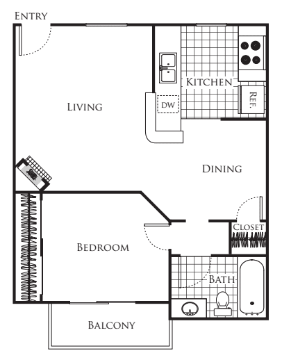 Large 1 bedroom