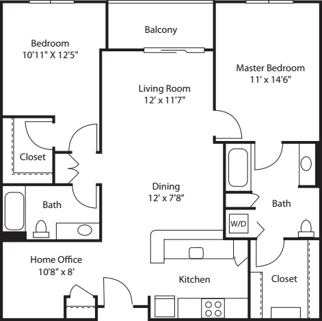 Two Bedroom 1175