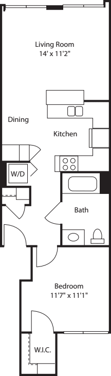 One Bedroom 644