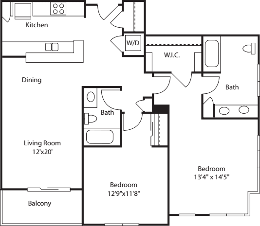 Two Bedroom 1188