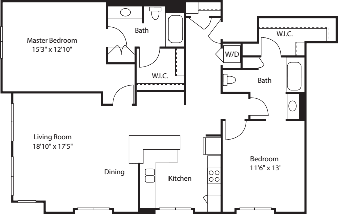 Two Bedroom 1280