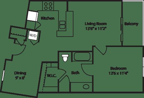One Bedroom 730
