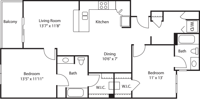 Two Bedroom 1082