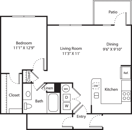 One Bed A-3 - Phase II