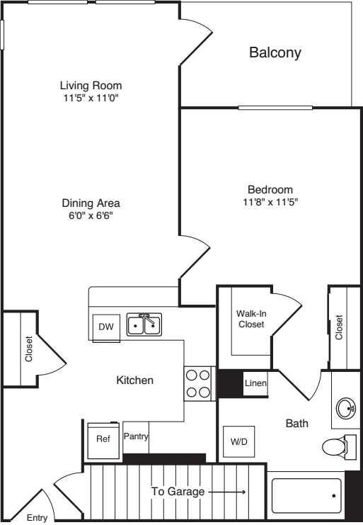 One Bed A-6 - New