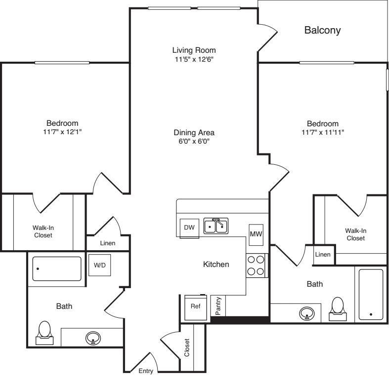 Two Bed B-2 - New