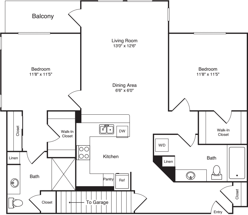 Two Bed B-5 - New