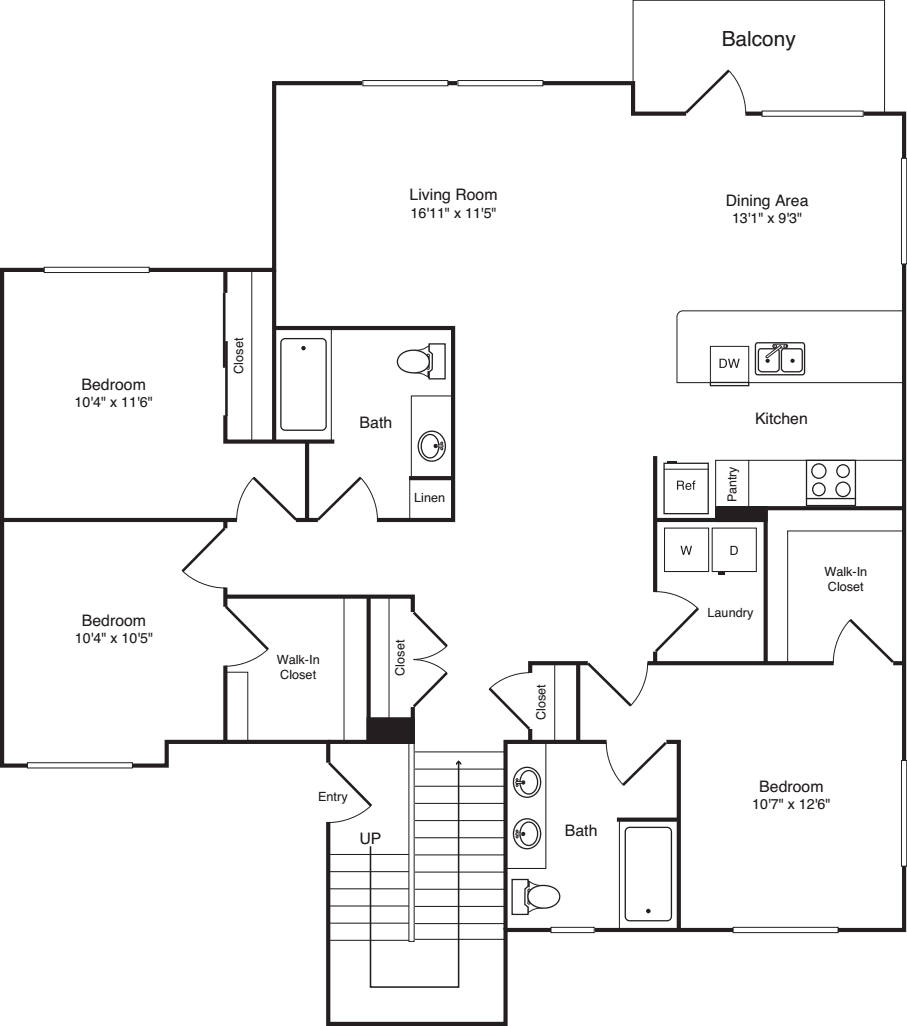 Three Bed C-1 - New