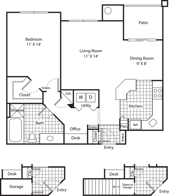 One Bed A-3 - Phase I