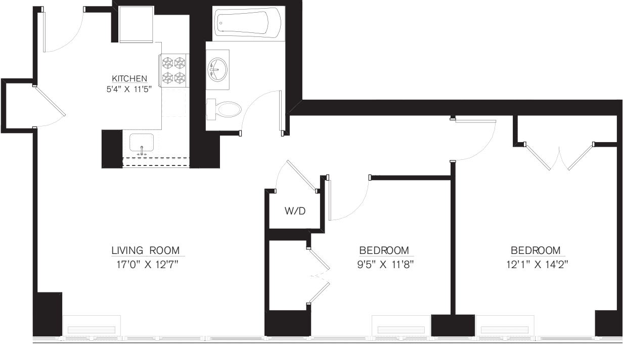 2 Bedroom G Line floors 42-50