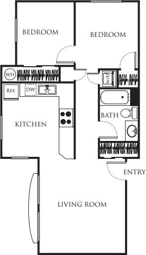One Bedroom with Den 750