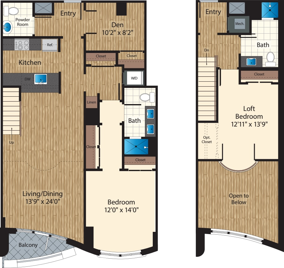 Two Bedroom+ Den J 1526