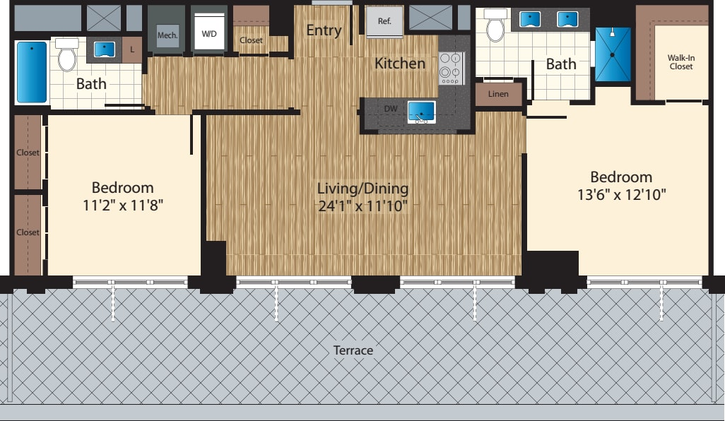 PH Two Bedroom H 1128