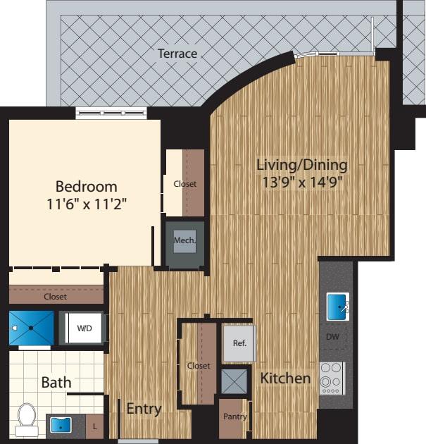 One Bedroom E/921