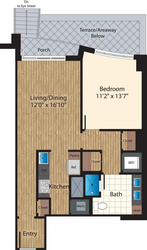 1 Bedroom Type E