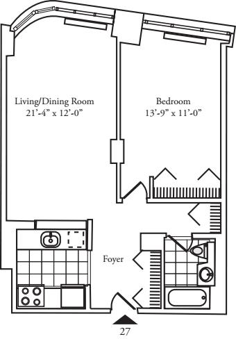 Residence 27 floors 3-8