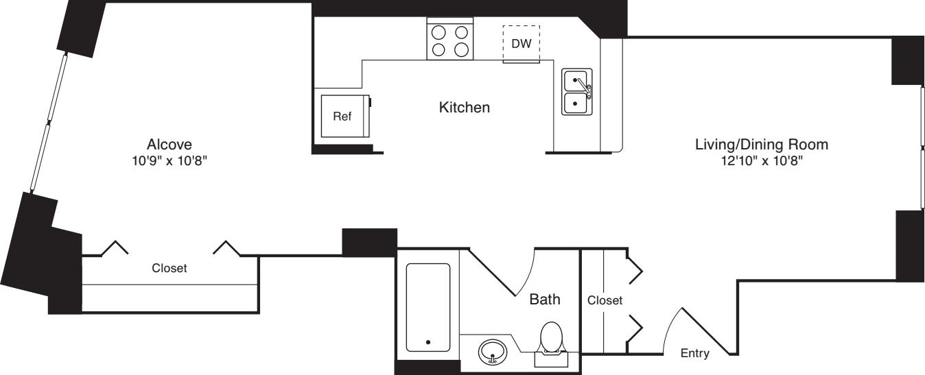 Residence 01, floors 3-8