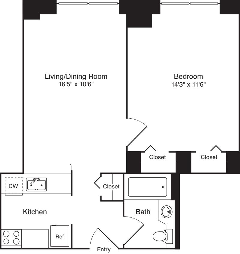 Residence 04, floors 3-8