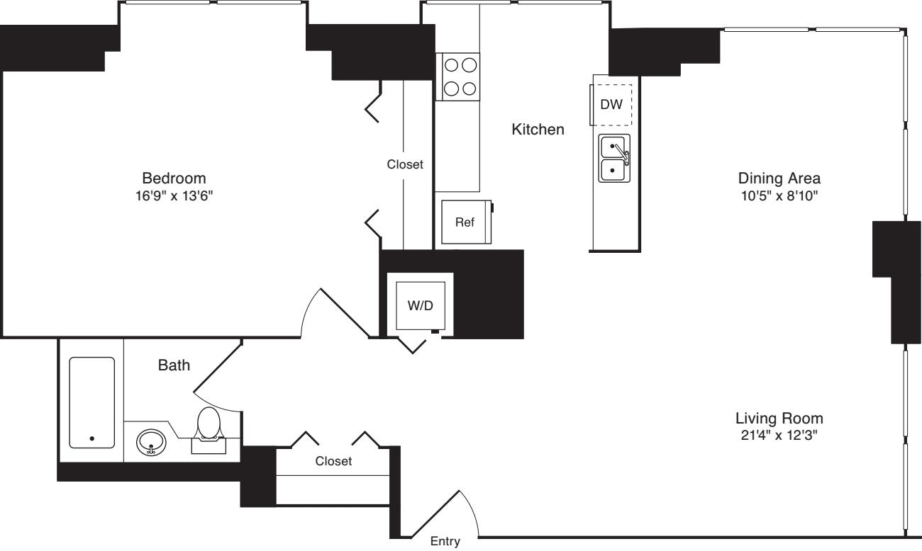Residence E, floor 22-33
