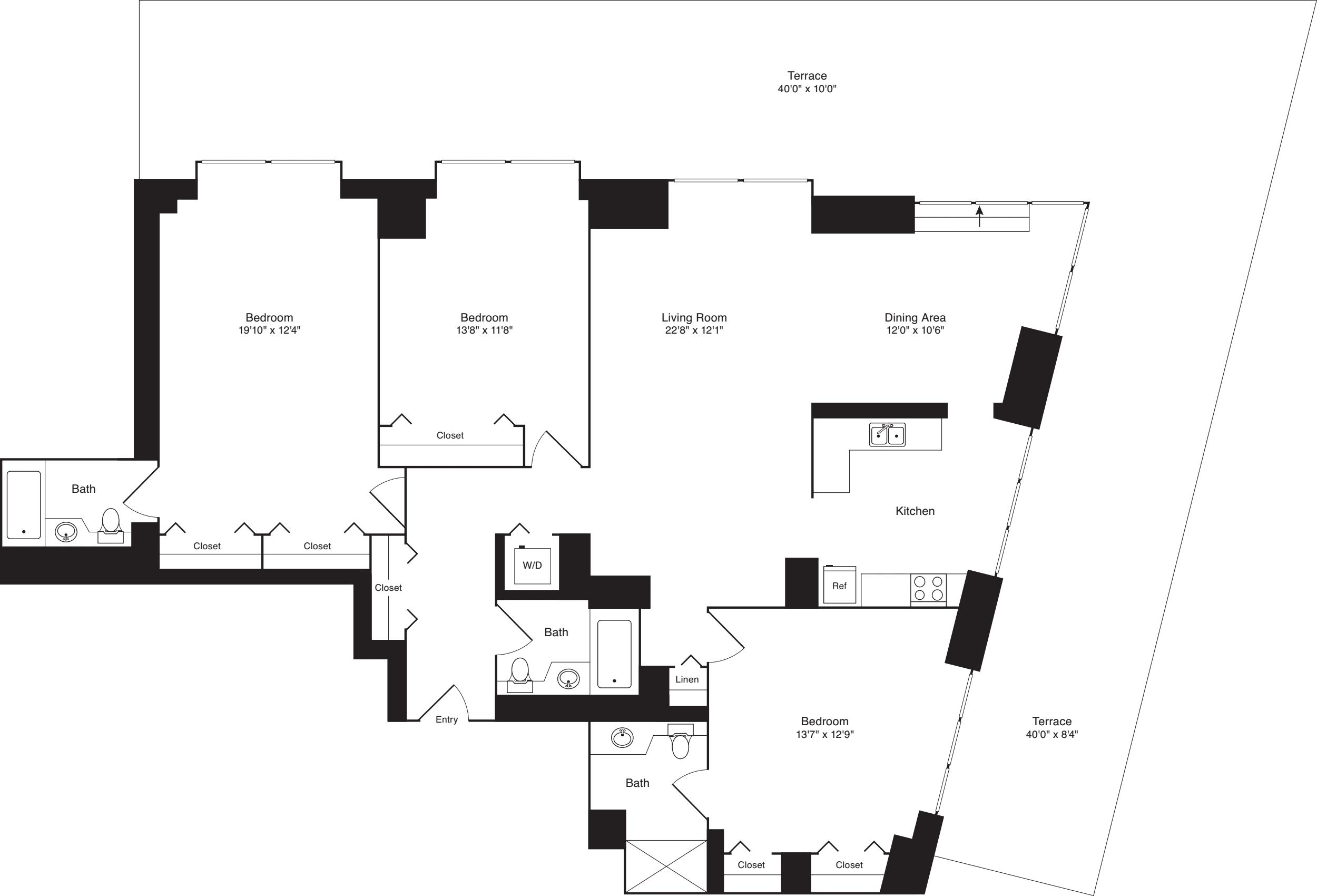 Residence A, floor 18