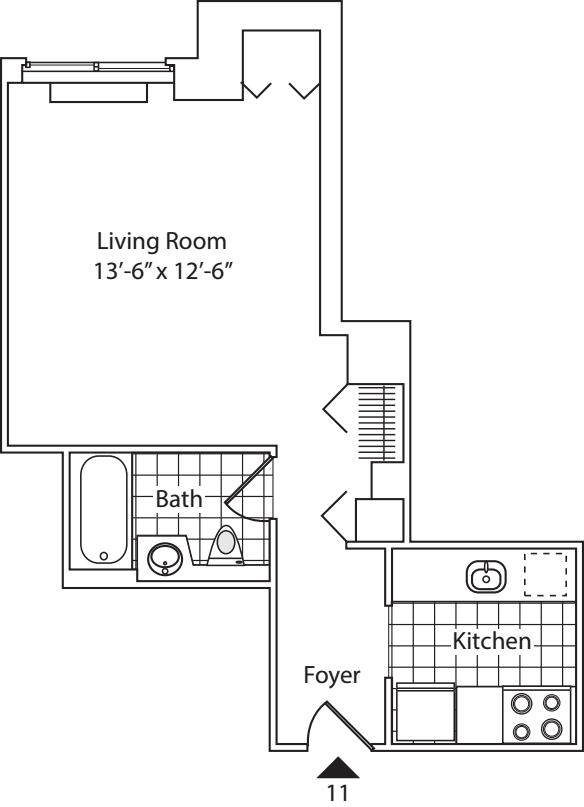 Residence 11, floors 3-6
