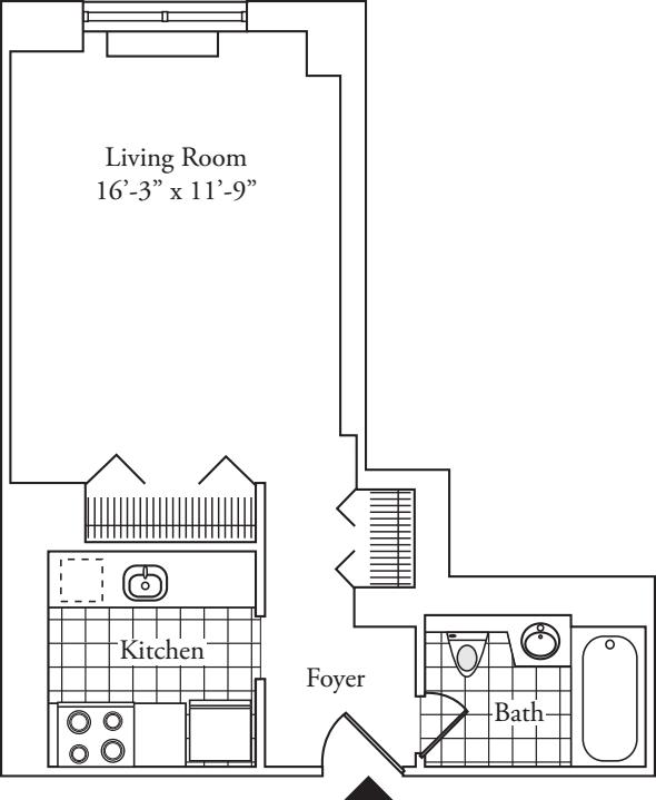 Residence 10, floors 3-6