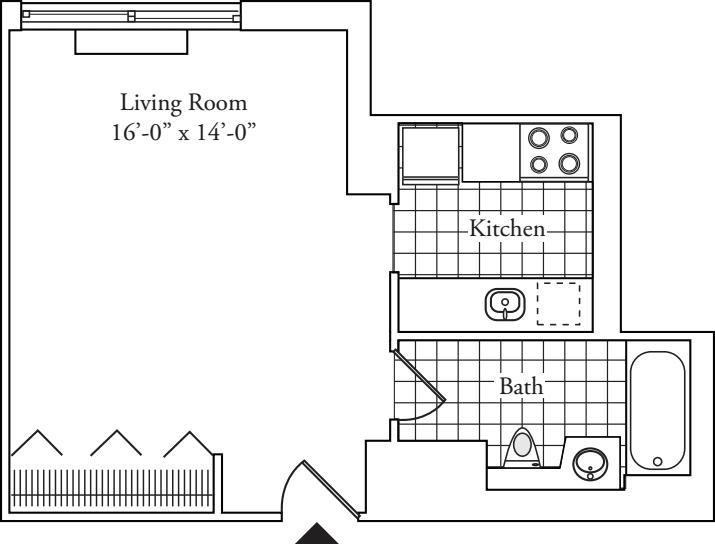 Residence E, floors 3-17