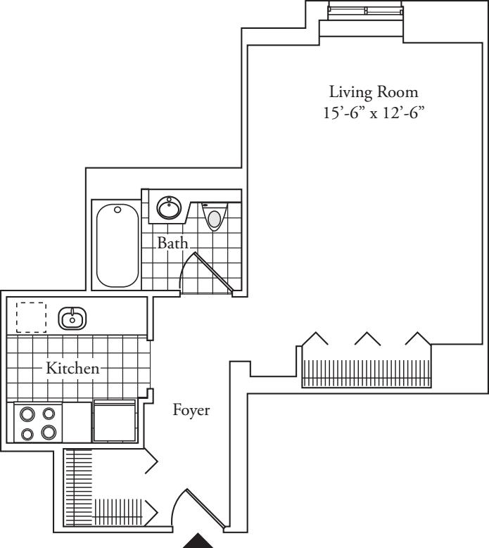 Residence F, floors 3-17