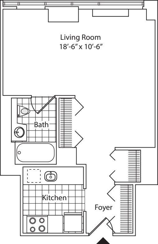 Residence C, floor 20