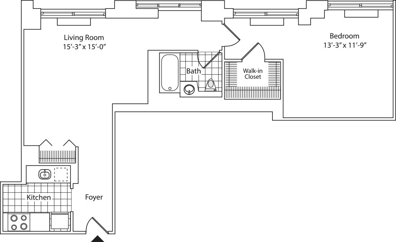 Residence D, floor 20