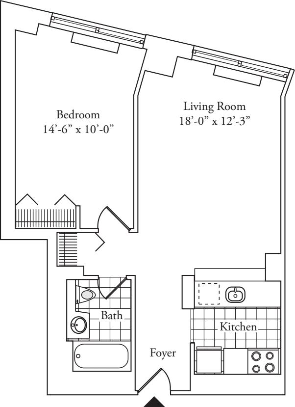 Residence M, floors 3-17