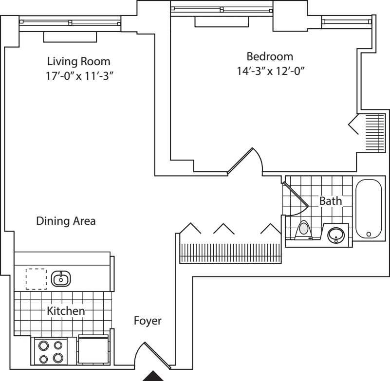 Residence C, floor 18
