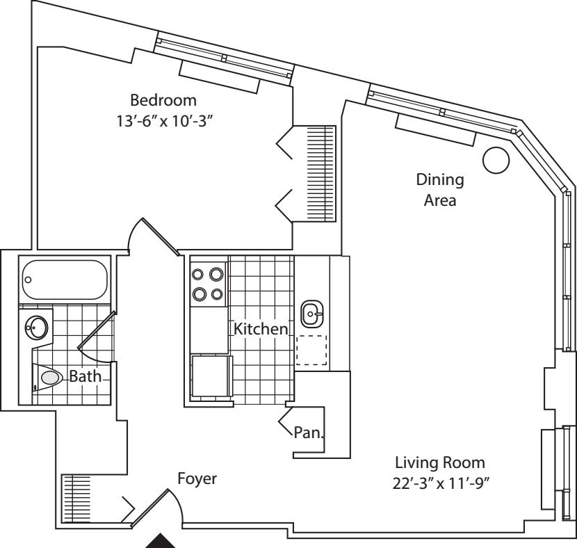 Residence B, floor 19