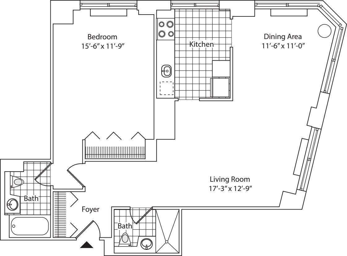 Residence F, floor 19 - Residence G, floor 20