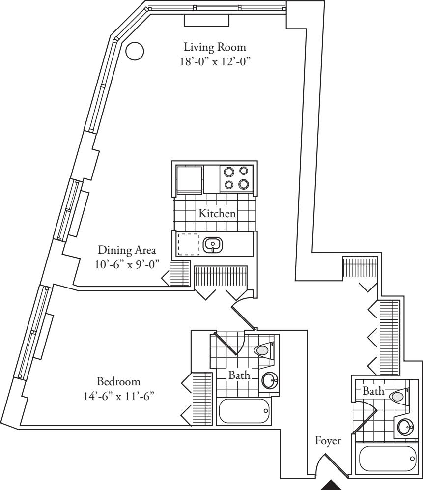 Residence N, floors 3-17