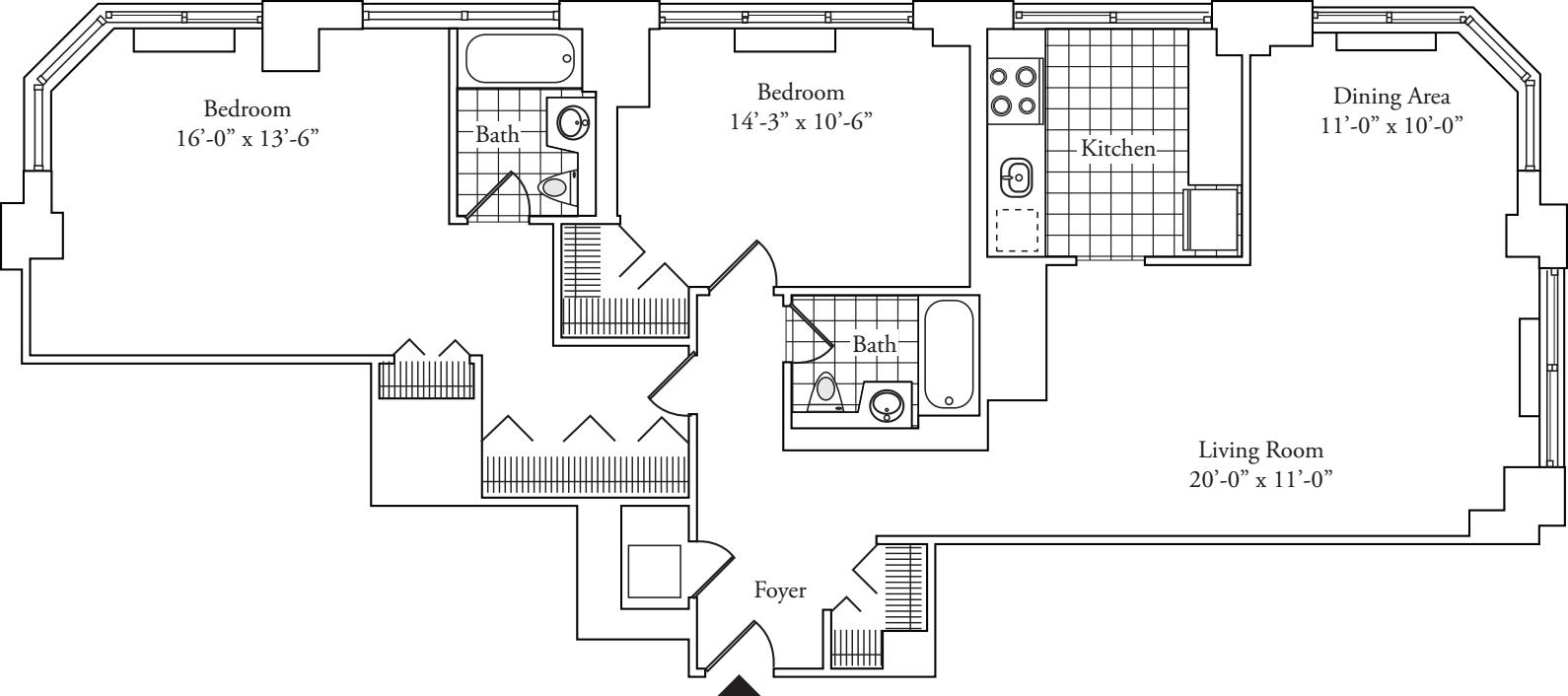 Residence D, floors 37-P2