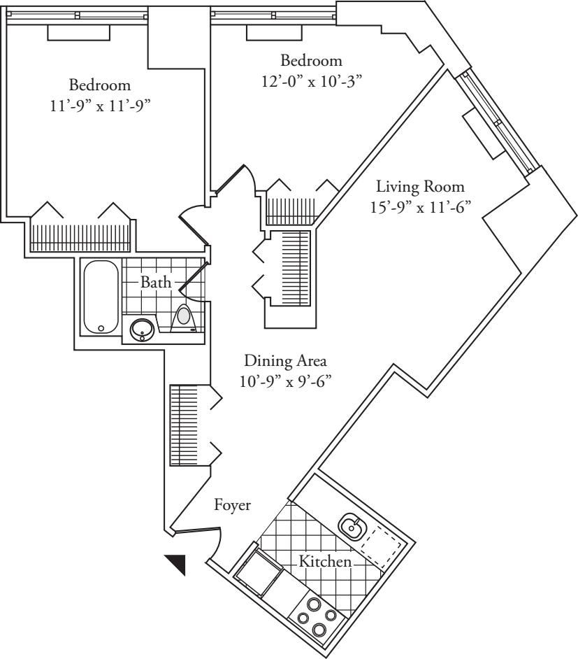 Residence 12, floors 3-6