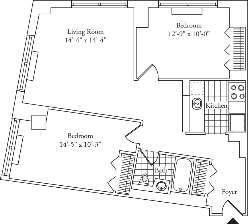 Residence 06, floors 3-6