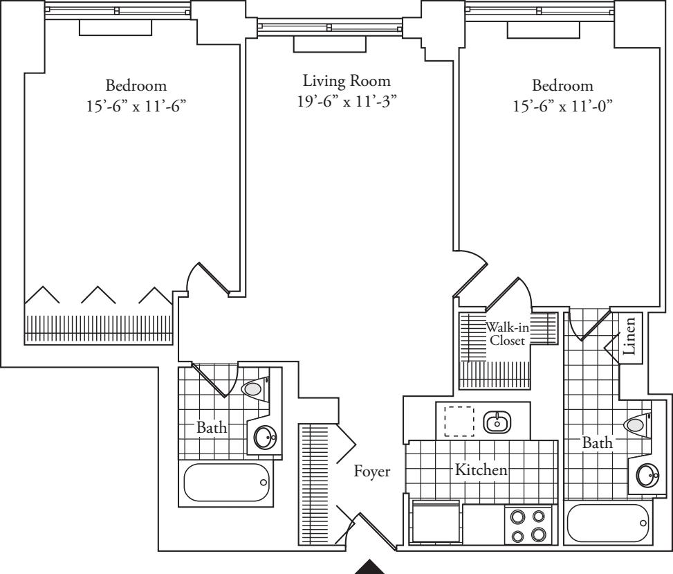 Residence J, floors 18-19