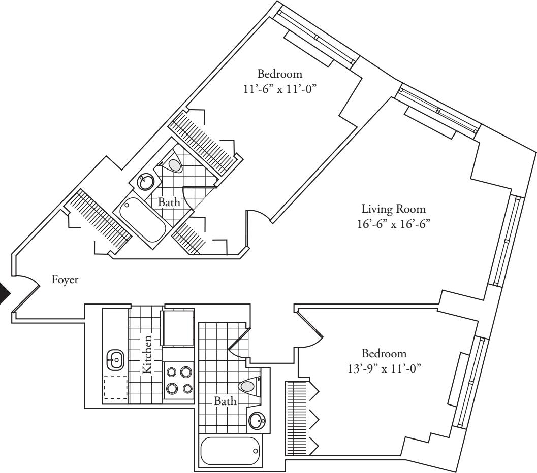 Residence 15, floors 3-6